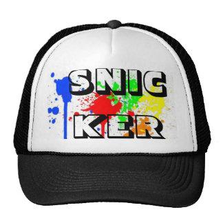 Pinte la salpicadura gorras de camionero