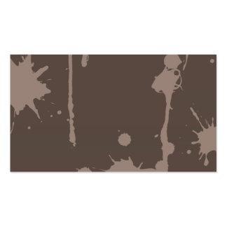 Pinte la salpicadura gris tarjetas personales