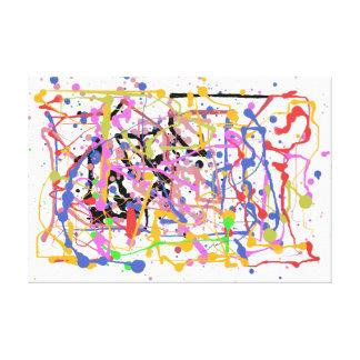 Pinte la salpicadura lona envuelta para galerias