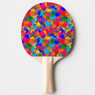 Pinte la salpicadura pala de tenis de mesa