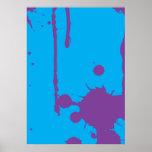 Pinte la salpicadura púrpura impresiones