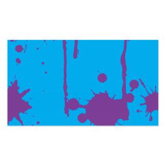 Pinte la salpicadura púrpura plantillas de tarjetas de visita