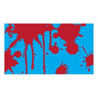 Pinte la salpicadura roja tarjetas de visita