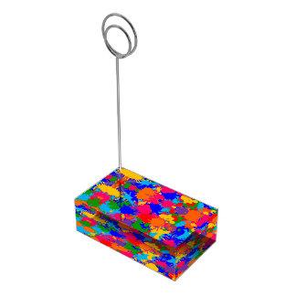 Pinte la salpicadura soportes para tarjetas de mesa