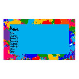 Pinte la salpicadura plantilla de tarjeta personal