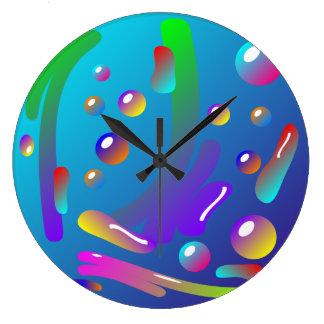 Pinte la salpicadura y el reloj de pared de los de