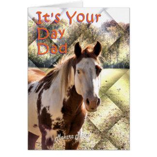 Pinte la tarjeta de Bday del caballo para el papá