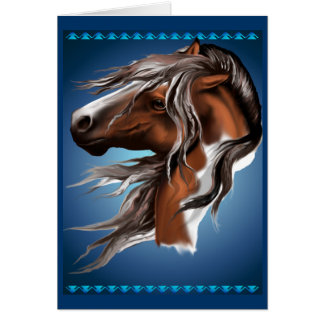 Pinte la tarjeta de cara del caballo