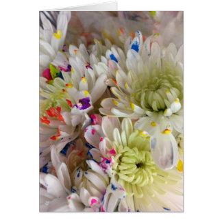 Pinte la tarjeta de cumpleaños de la flor del