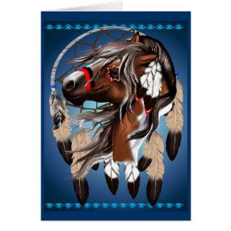 Pinte la tarjeta de Dreamcatcher del caballo