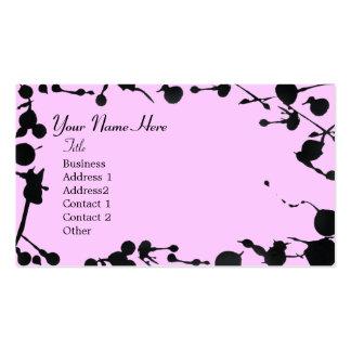 Pinte la tarjeta de visita de la salpicadura