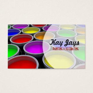 Pinte la tarjeta de visita de las latas