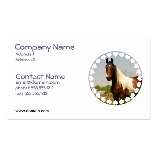 Pinte la tarjeta de visita del caballo