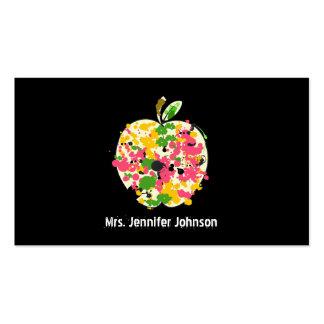 Pinte la tarjeta de visita del profesor de Apple