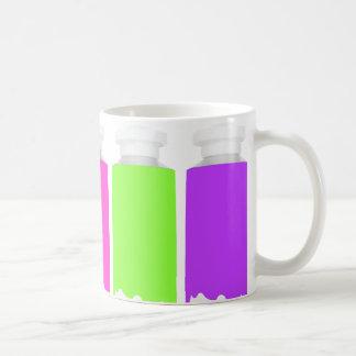 Pinte la taza de los tubos