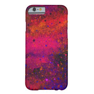 Pinte la textura de la salpicadura en rosado rojo funda de iPhone 6 barely there