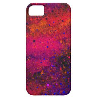 Pinte la textura de la salpicadura en rosado rojo funda para iPhone 5 barely there