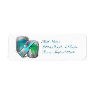 Pinte las etiquetas de correo etiqueta de remitente