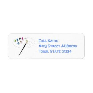 Pinte las etiquetas de correo de la paleta etiqueta de remitente