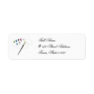 Pinte las etiquetas de correo de la paleta etiqueta de remite