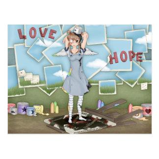 Pinte las ilustraciones del ángel del animado del postal