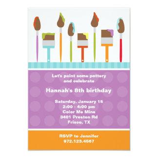 Pinte las invitaciones del fiesta invitación 12,7 x 17,8 cm