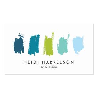 Pinte las muestras tarjeta de visita azul/verde