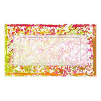 Pinte las salpicaduras con el espacio de la copia tarjeta de negocio