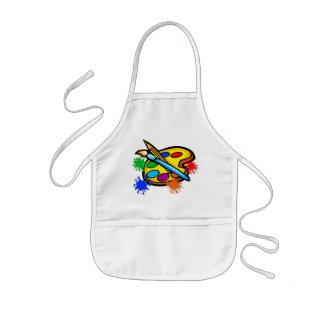 Pinte las salpicaduras de la paleta que pintan los delantal infantil