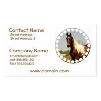 Pinte las tarjetas de visita del caballo