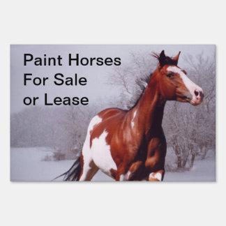 Pinte las ventas de los caballos o arriende la mue