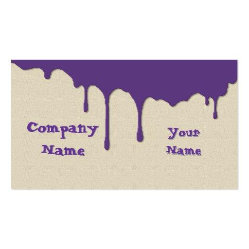 Pinte los goteos 1 plantillas de tarjetas personales