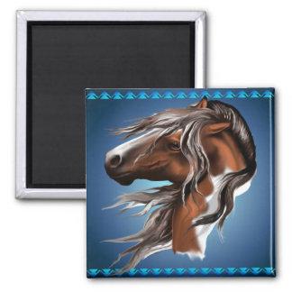 Pinte los imanes de la cara del caballo imán de nevera