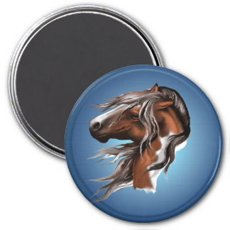 Pinte los imanes de la cara del caballo imanes