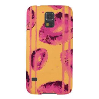 Pinte los labios rosados de goteo funda de galaxy s5