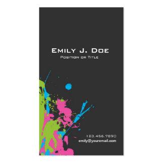 Pinte los salpicones plantilla de tarjeta personal
