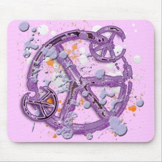 Pinte los signos de la paz de la salpicadura mousepad