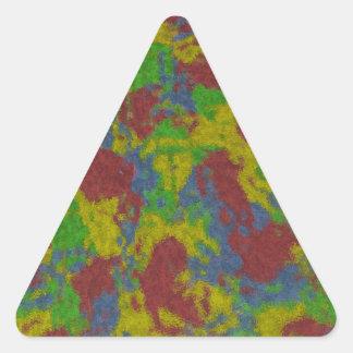Pinte salpica al pegatina del triángulo