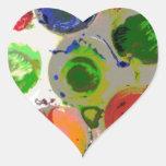 Pinte Splats Pegatina Corazón Personalizadas
