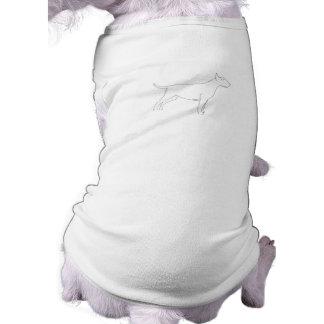 Pinte su propia ropa del mascota de bull terrier prenda mascota
