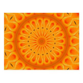 Píntelo naranja - arte fresco de la mandala tarjeta postal
