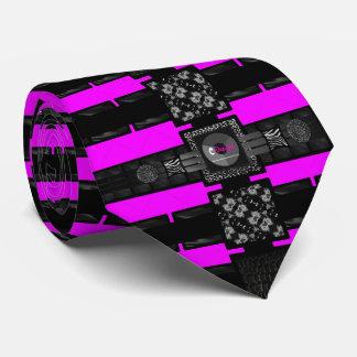 Pínteme leopardo rosado perfecto corbata personalizada
