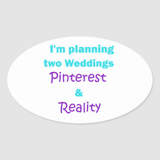 Pinterest addiction oval sticker