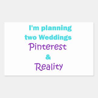Pinterest addiction rectangular sticker