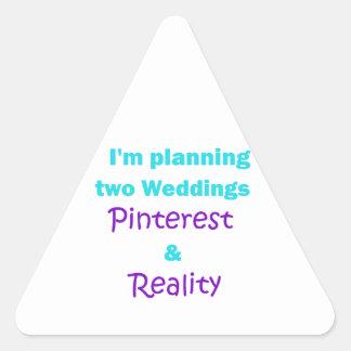 Pinterest addiction triangle sticker