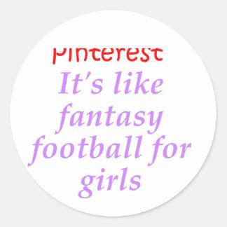 Pinterest Classic Round Sticker
