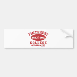 Pinterest College Of Dreamers Bumper Sticker