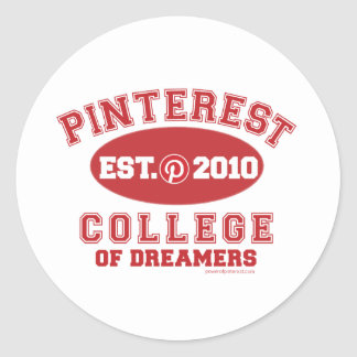 Pinterest College Of Dreamers Classic Round Sticker