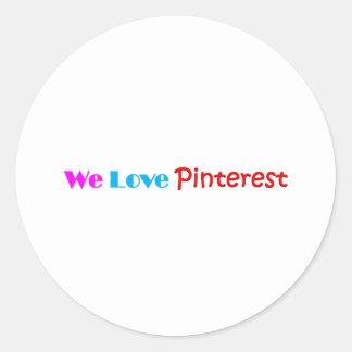 Pinterest Item Fan Made Design Classic Round Sticker