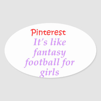 Pinterest Oval Sticker